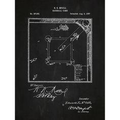 Found it at Wayfair - Sporting Goods 'Baseball Game' Silk Screen Print Graphic Art in Chalkboard/White Ink