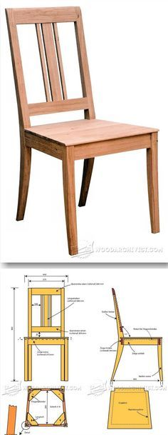 Dining Chair Plans - Furniture Plans and Projects - Woodwork, Woodworking, Woodworking Plans, Woodworking Projects Diy Wood Projects, Furniture Projects, Wood Furniture, Furniture Design, Chair Design, Outdoor Furniture, Woodworking Furniture Plans, Teds Woodworking, Woodworking Crafts