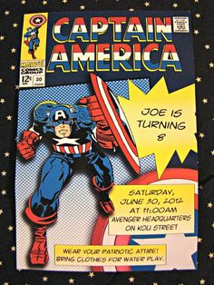 Captain America Birthday Party Ideas | Photo 1 of 25 | Catch My Party