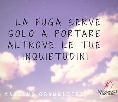 """""""La fuga serve solo a portare altrove le tue inquietudini. Massimo Gramellini. Forum delle eccellenze 2016 #gramellini #forumeccellenze"""""""