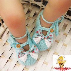 Handmade Crochet Baby Shoes Crocheting Baby Sandals Woven Shoes., via Etsy.
