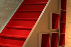 Red stairs by kerygma