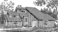 Now Available! The Sundance - Plan 219. The master suite opens to a sun room and large back deck. http://www.dongardner.com/plan_details.aspx?pid=139. #Rustic #Mountain #HomePlan