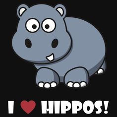 I LOVE HIPPOS #1 Shirts, My Love, Funny, Fictional Characters, Women, Yoga Exercises, Round Collar Shirt, Gifts, Funny Parenting
