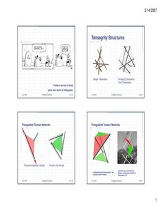 Tensegrity Structures  A flipbook introduction to tensegrity structures