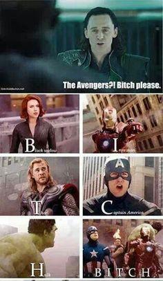 Haha! ♡ It #BitchVengers #Avengers #Loki