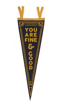 Fine & Good Pennant by Love Everywhere || shareloveeverywhere.com