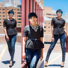 Look 4: Destiny Corporate Outfits For Women, New Series, Work Wear, What To Wear, Capri Pants, Punk, Clothes For Women, Lady, Destiny