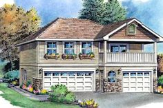 Traditional 2 Beds 2 Baths 877 Sq/Ft Plan #18-319 Front Elevation - Houseplans.com