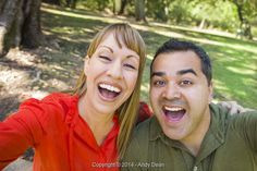 From Andy Dean, Mixed Race Couple Self Portrait at the Park - Stock Photos & Images | Stockafe.com #stockafe #stockphotography