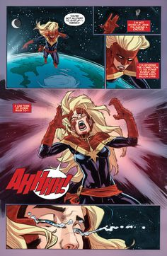 Captain Marvel #14    http://www.comicvine.com/carol-danvers/4005-21561/forums/how-severe-is-her-memory-loss-spoilers-1490676/