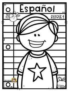 Portadas Art Drawings For Kids, Cute Drawings, Art For Kids, Teacher Fonts, Coloring Books, Coloring Pages, Dj Inkers, Christian Pictures, Cute Frames