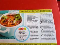 Low fat lentil peri peri chilli
