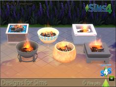 Designs for Sims — Patio firepits. TS3 To TS4 conversion.