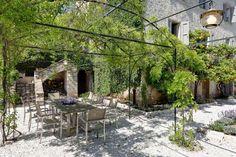 Courtyards, Patio, France, Outdoor Decor, Beautiful, Home Decor, Decoration Home, Terrace, Room Decor
