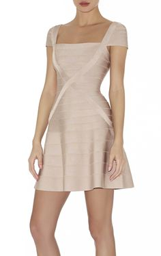 Makayla Signature Cap-Sleeve Bandage Dress