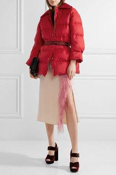 Prada - Quilted Shell Down Jacket - Red