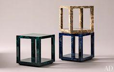 Liz O'Brien Editions. Albert cube table