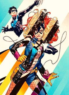 "nytewing:  ""Batgirl and the Birds of Prey #8 Variant Cover by Karmome Shirahama  """