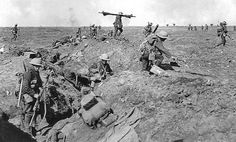 British infantry advancing in support during the Battle of Morval, 25 September 1916, part of the Battle of the Somme. Ernest Brooks, Imperial War Museums via WikiMedia Commons/Public Domain