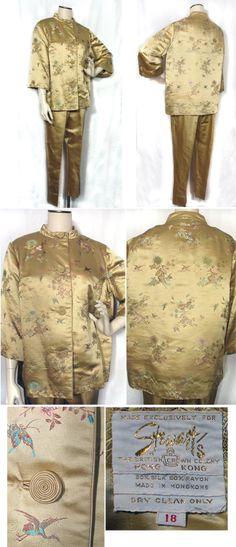 Jahrgang 1950 Kleid asiatische Gold Shirtwaist | Jahrgang, 1950er ...