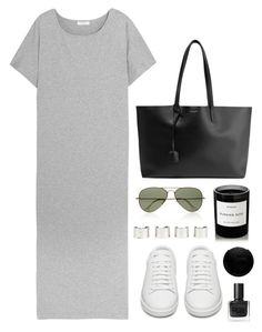 """""""Untitled #733"""" by mcweary ❤ liked on Polyvore featuring Equipment, Ray-Ban, Yves Saint Laurent, Maison Margiela, Byredo, RGB and Nails Inc."""