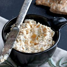 Warm Caramelized Onion Dip Recipe - one of my favorite dips to make, everyone enjoys it.  I also add two small jars of marinated atrichokes to beef it up a bit.