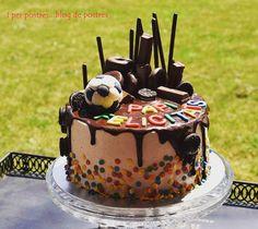 Drip cake de xocolata i maduixa iperpostresblogdepostres.blogspot.com