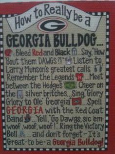 How to really be a GA bulldog.