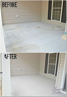 Super Ideas For Front Patio Design Stained Concrete Painted Concrete Porch, Diy Concrete Patio, Diy Patio, Backyard Patio, Patio Ideas, Concrete Front Porch, Painted Concrete Floors, Backyard Ideas, Paint For Concrete