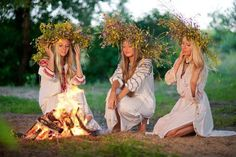 At the village at nightfall Sânziene meet with their beloved and they dance around a bonfire. Jumping over the embers after the bonfire is not raging anymore is done to purify the person and also to bring health.