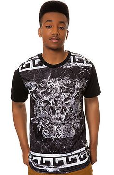 The Marble Crest Tee in Black by LATHC