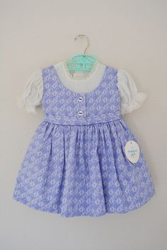 1950's Easter Dress// Vintage Pinafore Dress // by bumbleandboogs