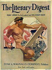The Literary Digest Cover by JC Leyendecker, 1908 - The Speed God Mercury, by Joseph Christian Leyendecker