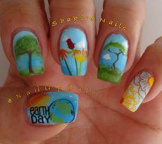 #EarthDay #spring nail #mundodeuñas #winstonia