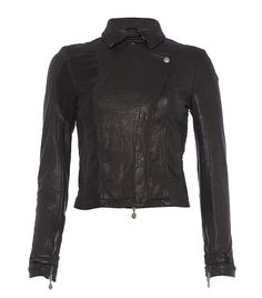 Patrizia Pepe Leather Fitted Jacket