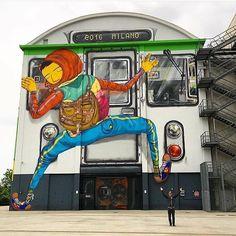 Artist: Os Gemeos  Location: Milan Italy  Photo: repost - check out @themuseumofurbanart for more urban art!  ℹ More at StreetArtRat.com  #travel #streetart #street #streetphotography #tflers #sprayart #urban #urbanart #urbanwalls #wall #wallporn #graffitiigers #stencilart #art #graffiti #instagraffiti #instagood #artwork #mural #graffitiporn #photooftheday #streetartistry #pasteup #instagraff #instagrafite #streetarteverywhere #repost #italy