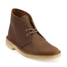 Clarks Desert Boot-Men in Beeswax Leather --