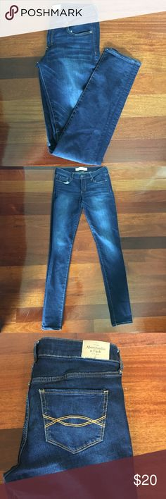 Abercrombie & Fitch Skinny Mid-Rise Jeans Faded Real cute skinny blue jeans from Abercrombie. size 4L.    EUC. GET 10% OFF 3+ ITEMS. Abercrombie & Fitch Jeans Skinny