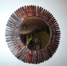 Country Clothespin Mirror
