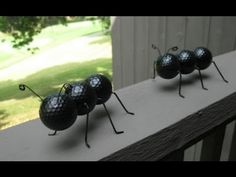 Just Do It Ant Crafted Out of Recycled Golf Balls and Wire Hangers