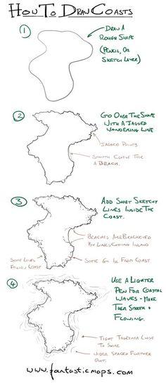 como hacer costas de mapas http://www.fantasticmaps.com/category/tips-and-tricks/