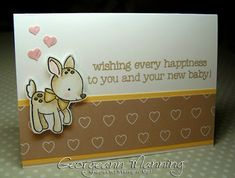 Made With Love, Baby Card, Stampin' Up, Stampin' Royalty, Love Blossoms Designer Series Paper