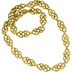 DAVID WEBB Yellow Gold Necklace