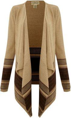 Drape Stripe Bottom Cardigan ~ Ralph Lauren #fall