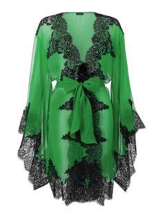 Elsa Short Kimono by Myla in Gazon Green/Black