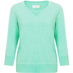 Collection WEEKEND by John Lewis Flouro Sweat Top, Aqua ($60) ❤ liked on Polyvore