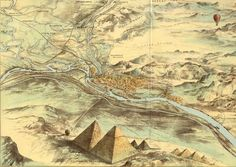 Historic Aerial map of Cairo