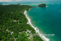 Aerial view of beaches within minutes of Discovery Beach House, Costa Rica #ParadiseAwaits