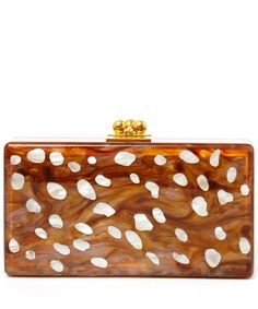 Edie Parker Brown Jean Bambi Acrylic Clutch Bag